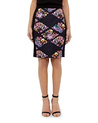 Ted Baker Lost Gardens Diamonds Pencil Skirt Black