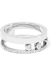 Messika Move Romane 18 Karat White Gold Diamond Ring
