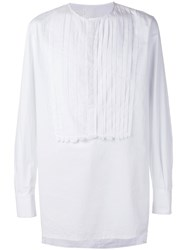 Nostra Santissima Detailed Placket Shirt White