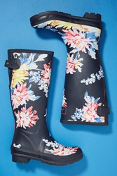 Joules Printed Rain Boots Blue