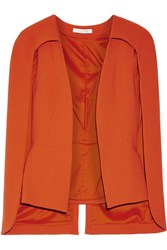 Alexis Lenore Wool Cape Orange