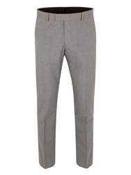 Limehaus Puppytooth Slim Fit Trousers Grey
