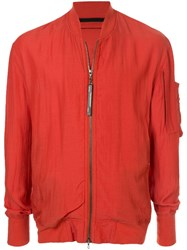 Julius Zip Up Bomber Jacket Orange