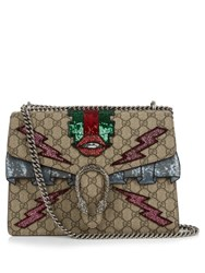 Gucci Dionysus Gg Supreme Applique Shoulder Bag Multi