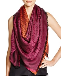 Liberty London Iphis Jacquard Square Scarf Magenta