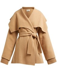 The Row Disa Oversized Cashmere Blend Jacket Camel