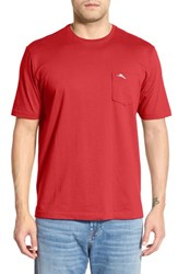 Men's Big And Tall Tommy Bahama 'New Bali Sky' Pima Cotton Pocket T Shirt Red Cherry