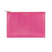 Aspinal Of London Essential Pouch Large Raspberry