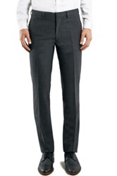 Topman Charcoal Skinny Fit Suit Trousers Gray