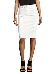 Blank Nyc Solid Bodycon Skirt White