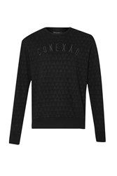 French Connection Men's Tribal Triangle Crew Sweat Black