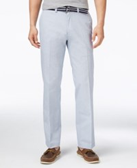 Haggar Belted Poplin Flex Waist Straight Fit Pants