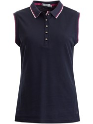 Green Lamb Faith Sleeveless Club Polo Navy