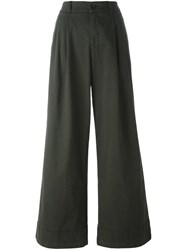 P.A.R.O.S.H. Wide Legged Draped Trousers Green