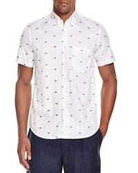 Steven Alan Planet Print Regular Fit Button Down Shirt Black White Planet