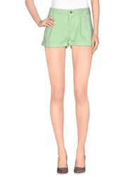Guess Denim Denim Shorts Women Light Green