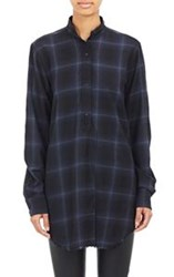 Helmut Lang Raw Edge Wool Cashmere Shirt Colorless