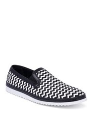 Dolce And Gabbana Chevron Skater Sneakers Black White