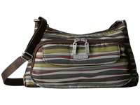 Baggallini Everyday Bagg Java Stripe Cross Body Handbags Multi