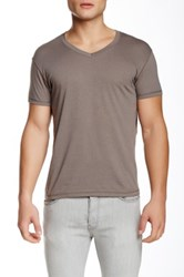 Baskit Short Sleeve V Neck Tee Gray