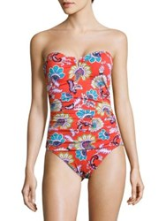 Tommy Bahama Strapless Printed One Piece Valencia