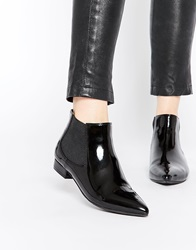 London Rebel Point Chelsea Boots Blackpatent
