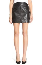 Paige Denim 'Rayleigh' Leather Skirt Black
