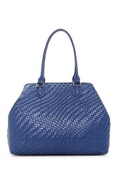 Cole Haan Lena Ii Leather Tote Blue