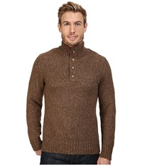 Royal Robbins Sequoia Button Mock Sweater Earth Men's Sweater Brown