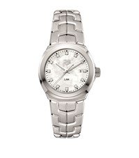 Tag Heuer Link Ladies White Mother Of Pearl Watch Unisex