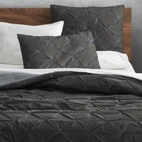 Cb2 Prisma Carbon Full Queen Quilt