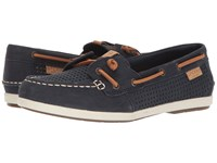 Sperry Coil Ivy Perf Navy Women's Moccasin Shoes