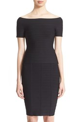 Women's Herve Leger 'Francesca' Off Shoulder Bandage Top Black