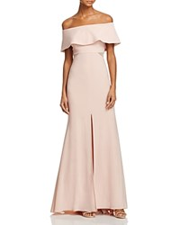 Aqua Off The Shoulder Flounce Gown 100 Bloomingdale's Exclusive Blush