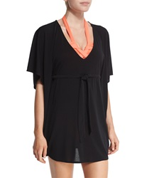 Seafolly Pixel Tail Spin Caftan Coverup Black White