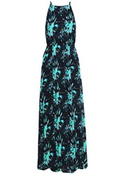 Superdry Evissa Maxi Dress Electric Storm Dark Blue