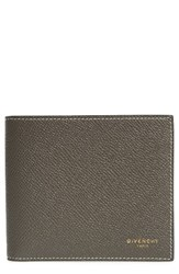 Givenchy Men's Calfskin Leather Bifold Wallet Beige Taupe
