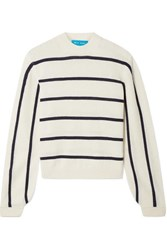 Mih Jeans M.I.H Ashton Striped Cashmere Sweater Cream