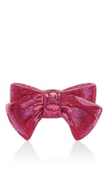 Judith Leiber Couture Crystal Bow Clutch Pink