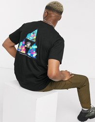 Huf Comics Triple Triangle T Shirt In Black