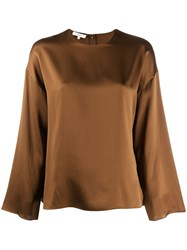 Vince Plain Blouse Brown