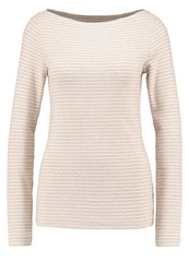 Gap Long Sleeved Top Oatmeal Stripe Beige