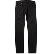 Ag Jeans Dylan Slim Fit Brushed Cotton Twill Trousers Black