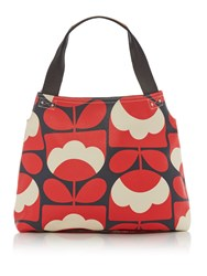 Orla Kiely Spring Bloom Classic Zip Shoulder Red