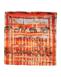 Pinko Grey Square Scarves Orange