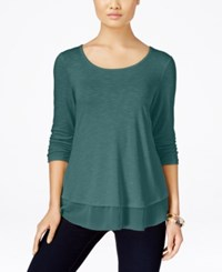 Styleandco. Style Co. Chiffon Hem Top Only At Macy's Green Nectar