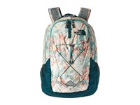 The North Face Women's Jester Golden Haze Neon Geo Print Deep Teal Blue Backpack Bags Green