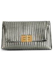 Tom Ford Natalia Clutch Silver
