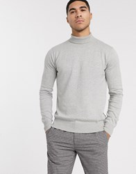 Bench Knitted Roll Neck In Grey