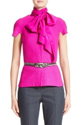 St. John Women's Collection Ribbon Texture Knit Jacket